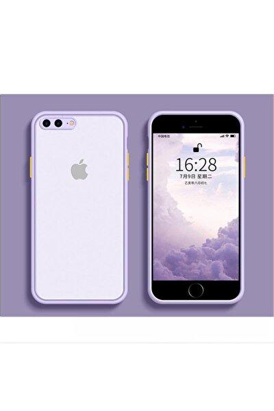 Iphone 7 Plus / 8 Plus Kamera Korumalı Silikon Lila Kılıf