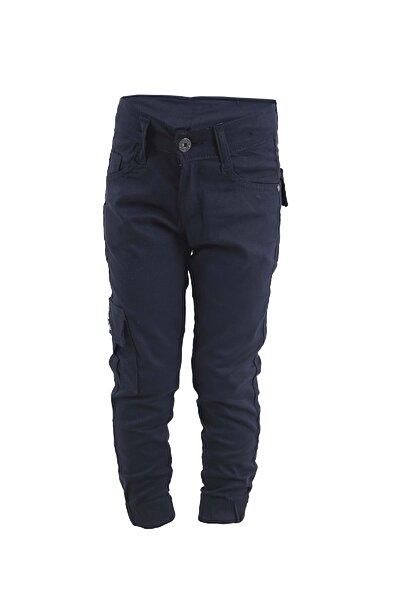 Erkek Çocuk Lacivert Keten Kargocu Pantolon