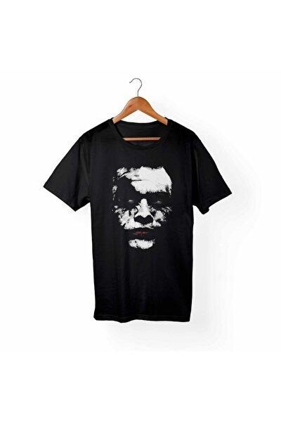 Unisex Siyah Joker Baskılı Büyük Beden T-Shirt