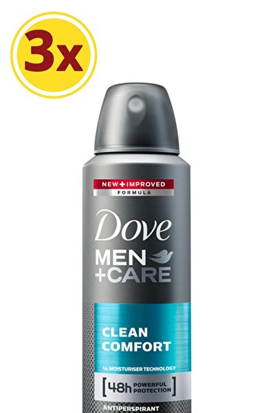 Men Erkek Deodorant Sprey Clean Comfort 150 Ml X3
