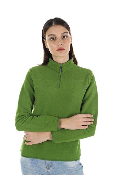Kadın Yeşil Yarım Fermuarlı Polar 21w42000001