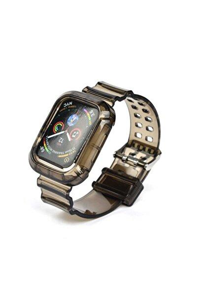 Kayış/kordon Ve Kasa Koruyucu Apple Watch Seri 2/3/4/5/6/se 44mm Siyah (SAAT DEĞİLDİR)