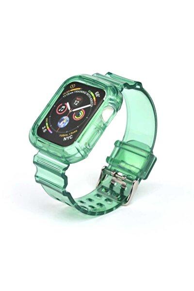 Kayış/kordon Ve Kasa Koruyucu Apple Watch Seri 2/3/4/5/6 40mm Yeşil (SAAT DEĞİLDİR)