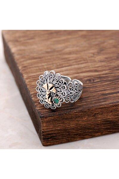 Kadın Karanfilli Telkari İşlemeli Gümüş Yüzük 2506
