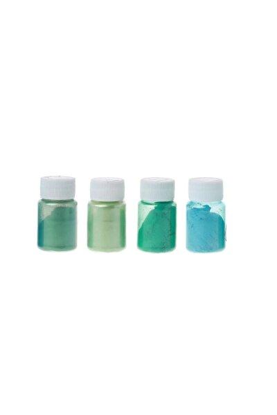 Kimya 4 Renk Yeşil Sedefli Epoksi Metalik Toz Pigment Seti