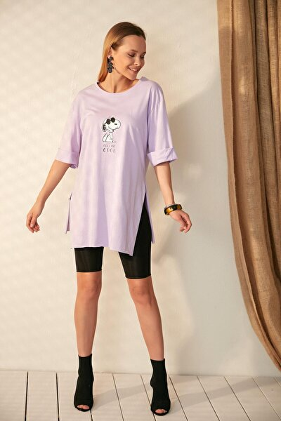 Kadın Lila T-Shirt