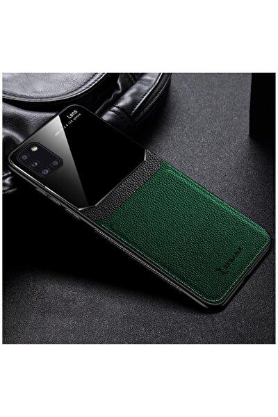 Samsung Galaxy A31 Zebana Lens Deri Yeşil Kılıf