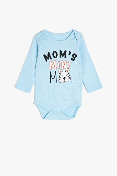 Mavi Erkek Bebek Bebek Body & Zıbın