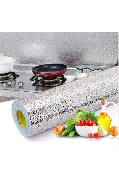 5 Metre Yapışkanlı Silinebilir Mutfak Tezgah Üstü Folyo Gümüş