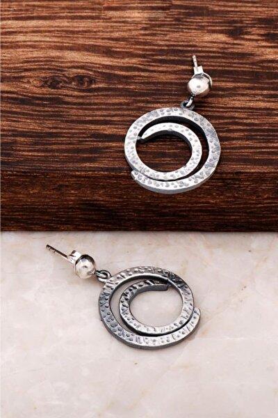 Kadın Yaşam Boşluğu Tasarım El İşi Gümüş Küpe 4271
