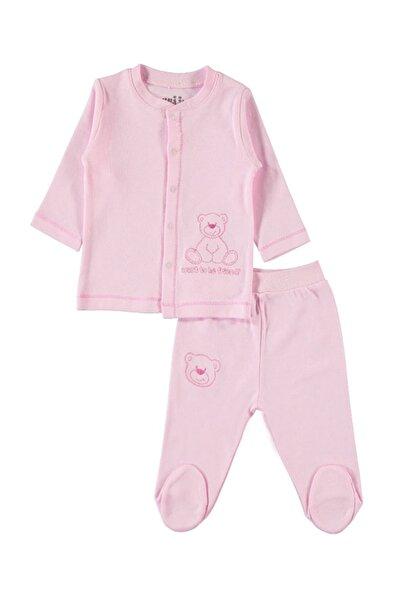 Kız Bebek Penye Takım 3-6 Ay Pembe