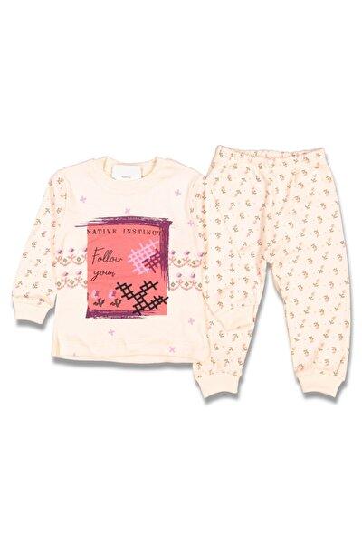 Kız Çocuk 1-2-3 Yaş Baskılı Pijama Takımı