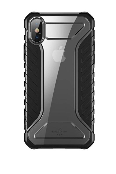 Iphone X Kılıf Orijinal Baseus Ultra Koruma Race Case - Black