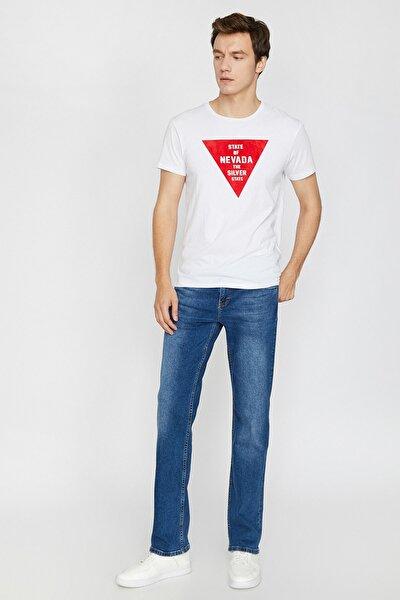 Erkek Mavi Normal Kesim Jean Pantolon 0KAM45023LD