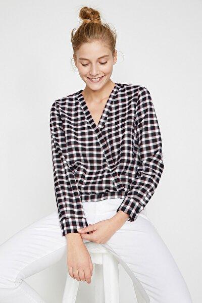 Kadın Siyah Kareli Gömlek 0KAL68460OW