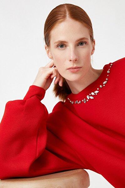 Kadın Kırmızı Sweatshirt 1KAK18136PK