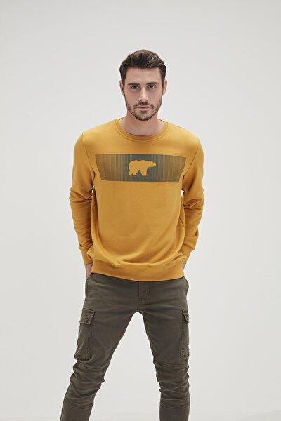 Erkek Sarı Fancy Sweatshirt