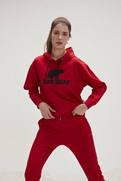 Kadın Kırmızı Crop Crımsonred Sweatshirt