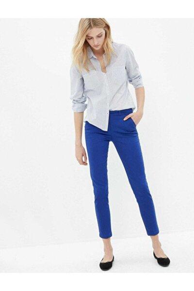 Kadın Saks Mavisi Kumaş Pantolon
