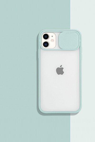 Iphone11 Kamera Koruyuculu Su Yeşili Kılıf
