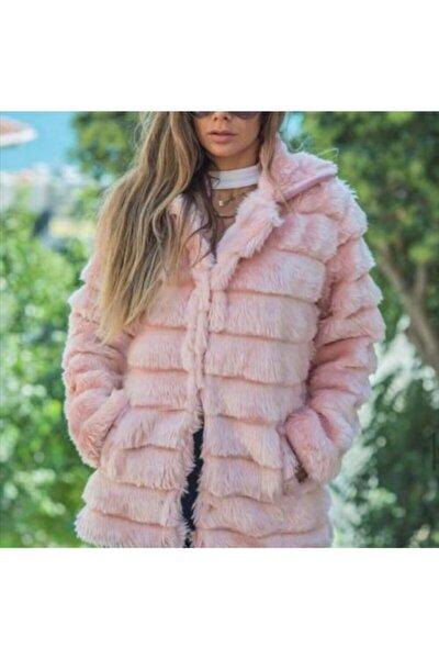 Kadın Pembe Peluş Ceket