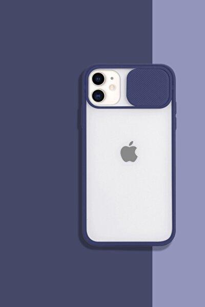 Iphone11 Kamera Koruyuculu Lacivert Kılıf