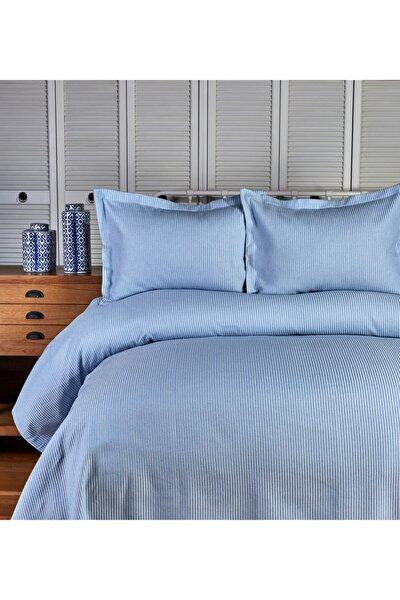 Lexus Mavi Çift Kişilik Yatak Örtüsü Seti