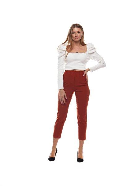 Kadın Kiremit Havuç Pantolon