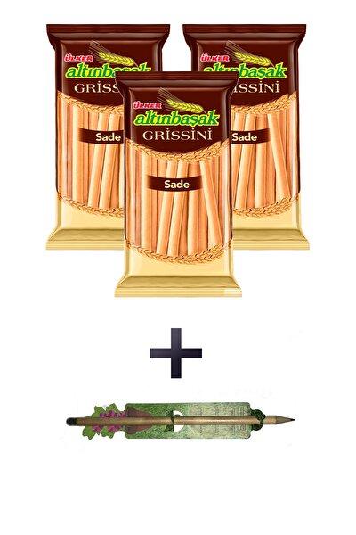 Altınbaşak Grissini Sade 3 Adet X 125 G. Yaşayan Kalem Hediyeli
