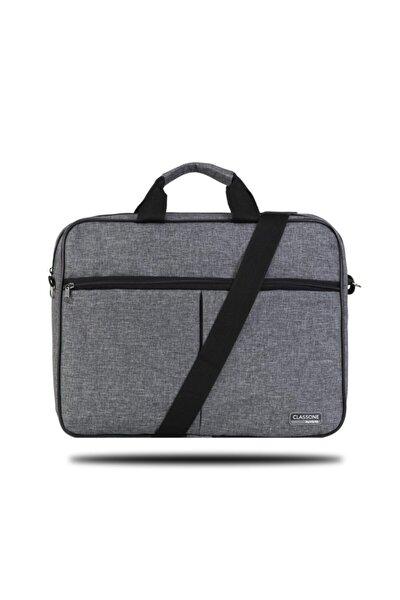 Unisex Gri 15,6 Inç Uyumlu Laptop Notebook El Çantası