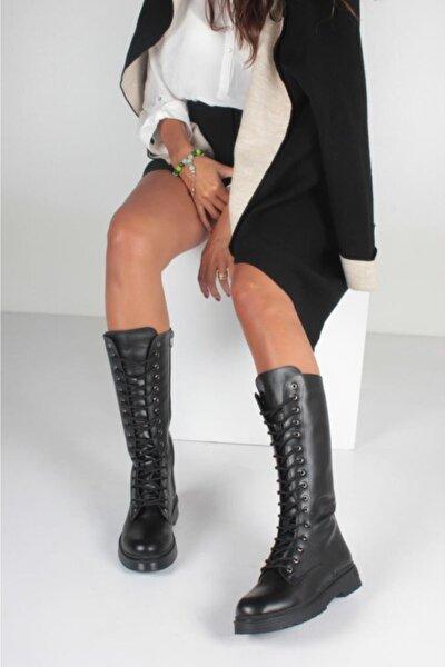 Kadın Siyah Cilt Bot KY3042
