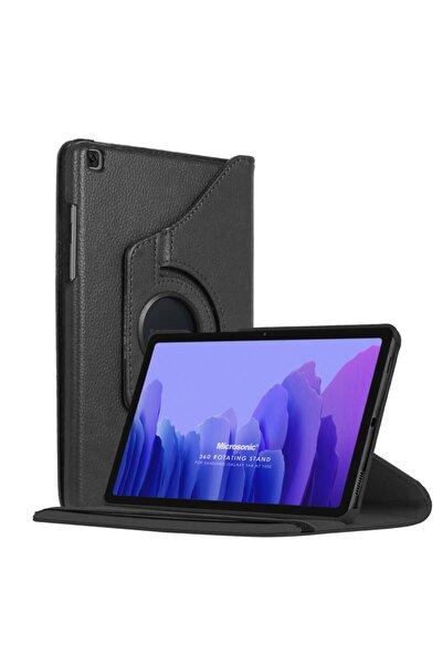 Microsonic Galaxy Tab A7 T500 Kılıf 360 Rotating Deri Siyah