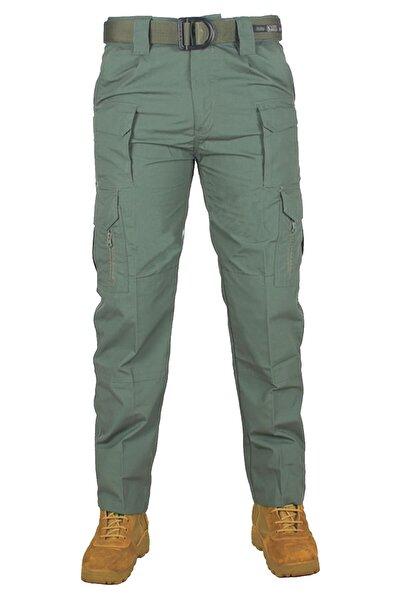 Erkek Yeşil Taktik Pantolon Tru Spec Haki Yeşil Düz Kargo Cepli Tactical Outdoor