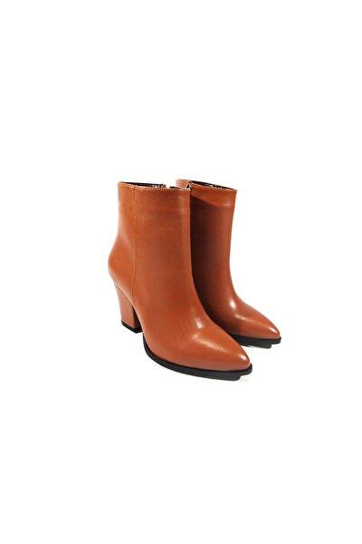 Kadın Taba Topuklu Ayakkabı Oott412