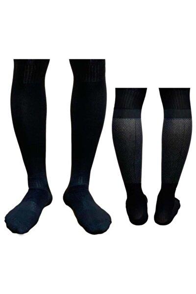 Profesyonel Futbol Maç Çorabı Baldır Fileli Tozluk Konç