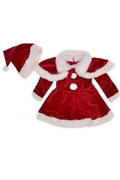 Kız Çocuk Kadife Yılbaşı Kostümü
