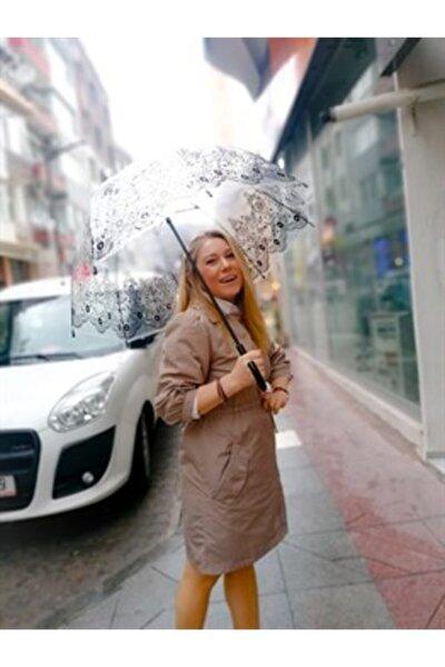 Kadın Bej Yağmurluk