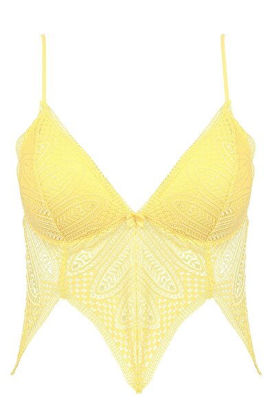 Sarı Dantelli Bralet