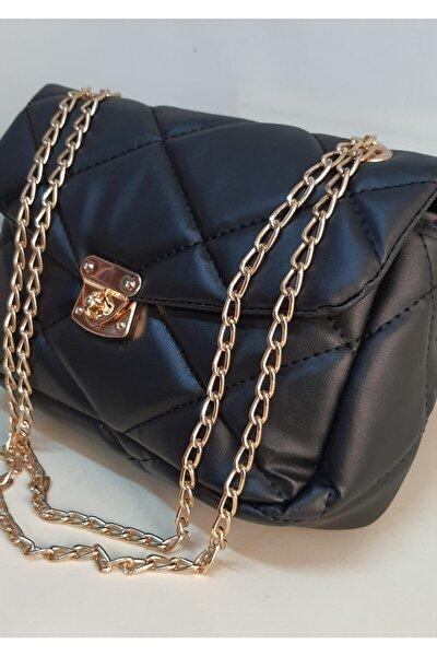 Kadın Siyah Zincir Askılı Çanta