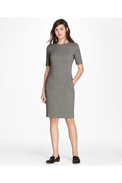 Kadın Gri Slim Elbise
