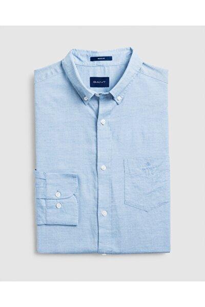 Erkek Mavi Regular Fit Gömlek