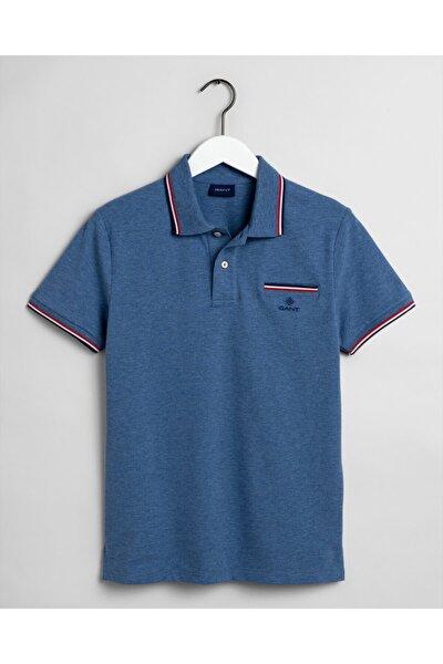 Erkek Regular Fit Mavi Polo Yaka T-Shirt 2052002