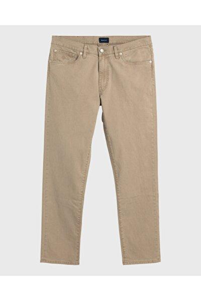 Erkek Bej Slim Fit Pantolon