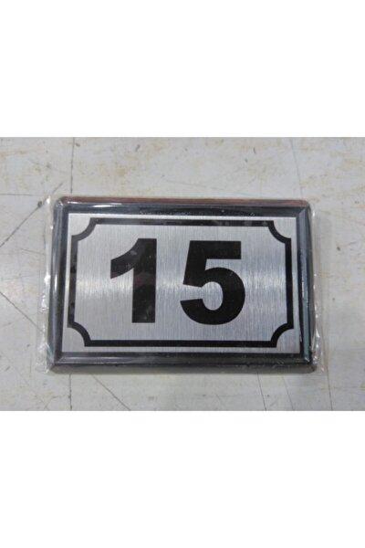 Yapışkanlı Kapı Numarası Alüminyum 15 No