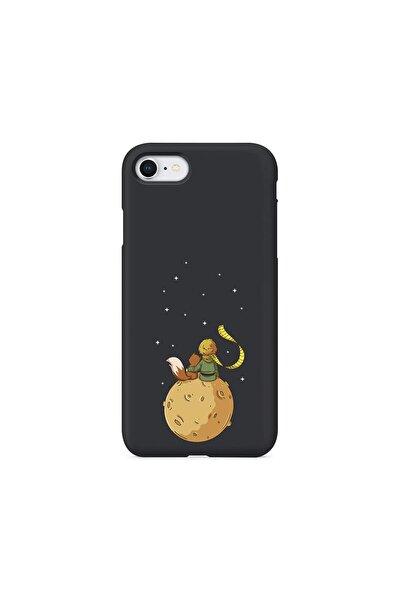 Iphone Se 2020 Siyah Lansman Küçük Prens - 2 Telefon Kılıfı