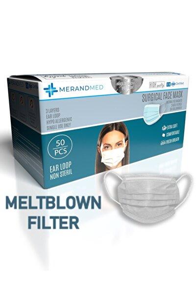3 Katlı Meltblown-spunbond Cerrahi Maske - 1 Kutu ( Kutu Içi 50 Adet ) - Beyaz
