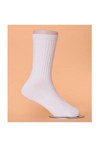 Unisex Beyaz Terletmez 6'lı   Halısaha Günlük Giyim Antrenman Spor Çorap