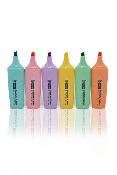 6 Renk Pastel Fosforlu Kalem Seti
