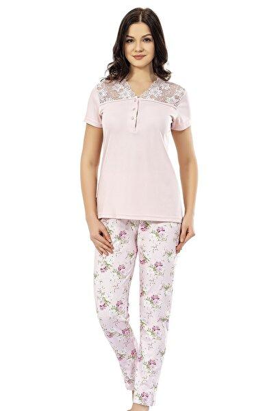 Kadın Pembe Yazlık Pijama Takımı
