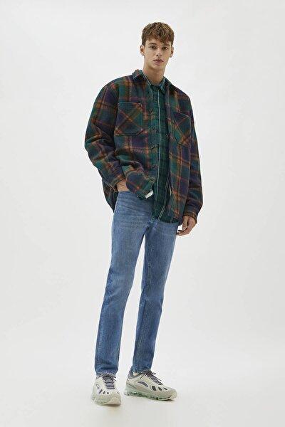 Erkek Yeşilimsi Mavi Comfort Slim Fit Jean 04681504